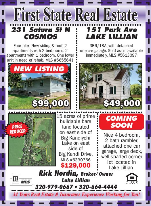 First State Insurance October 2020 Real Estate Ad